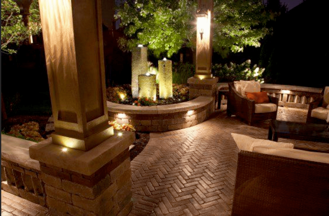 outdoor landscape lighting for patios