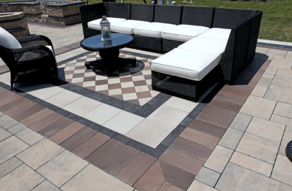 10 Patios That Use Paver Patterns to Make a Statement ... on Unilock Patio Ideas id=31968