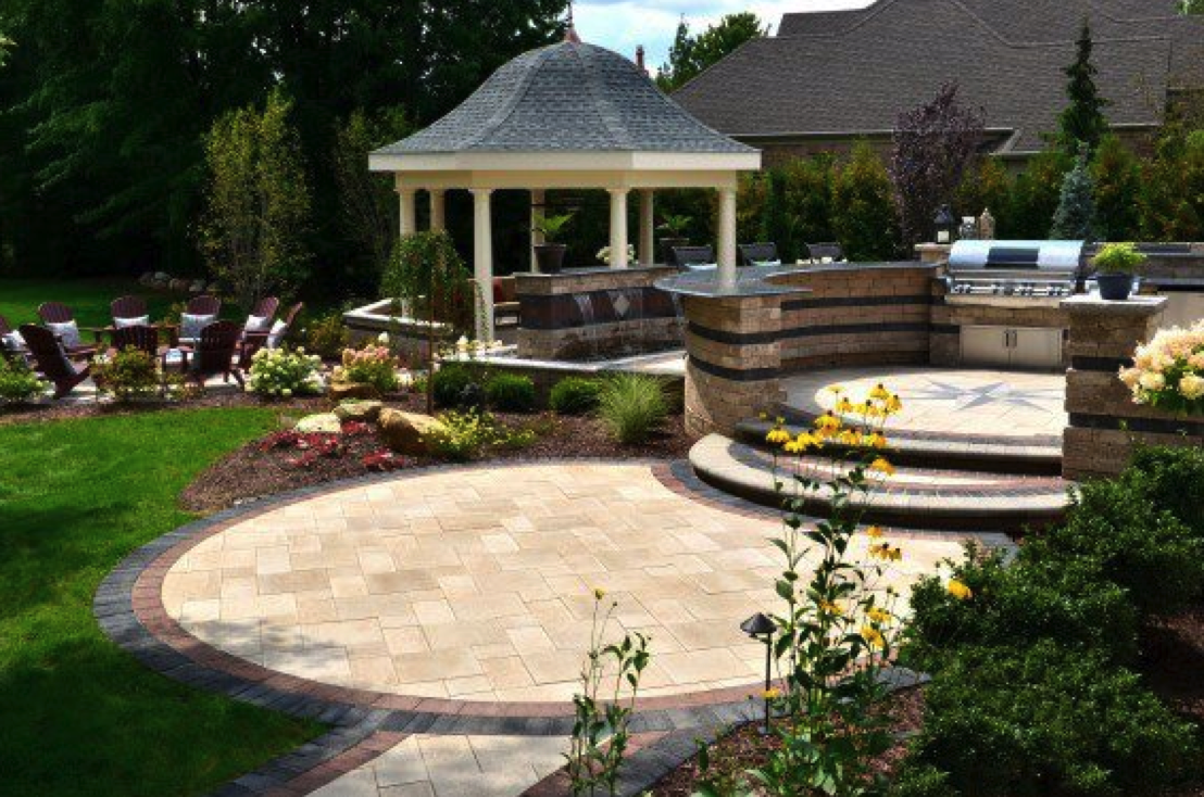 5 Stunning Patio Designs for a Hardscape Sure to Impress ... on Backyard Hardscape Design id=52220