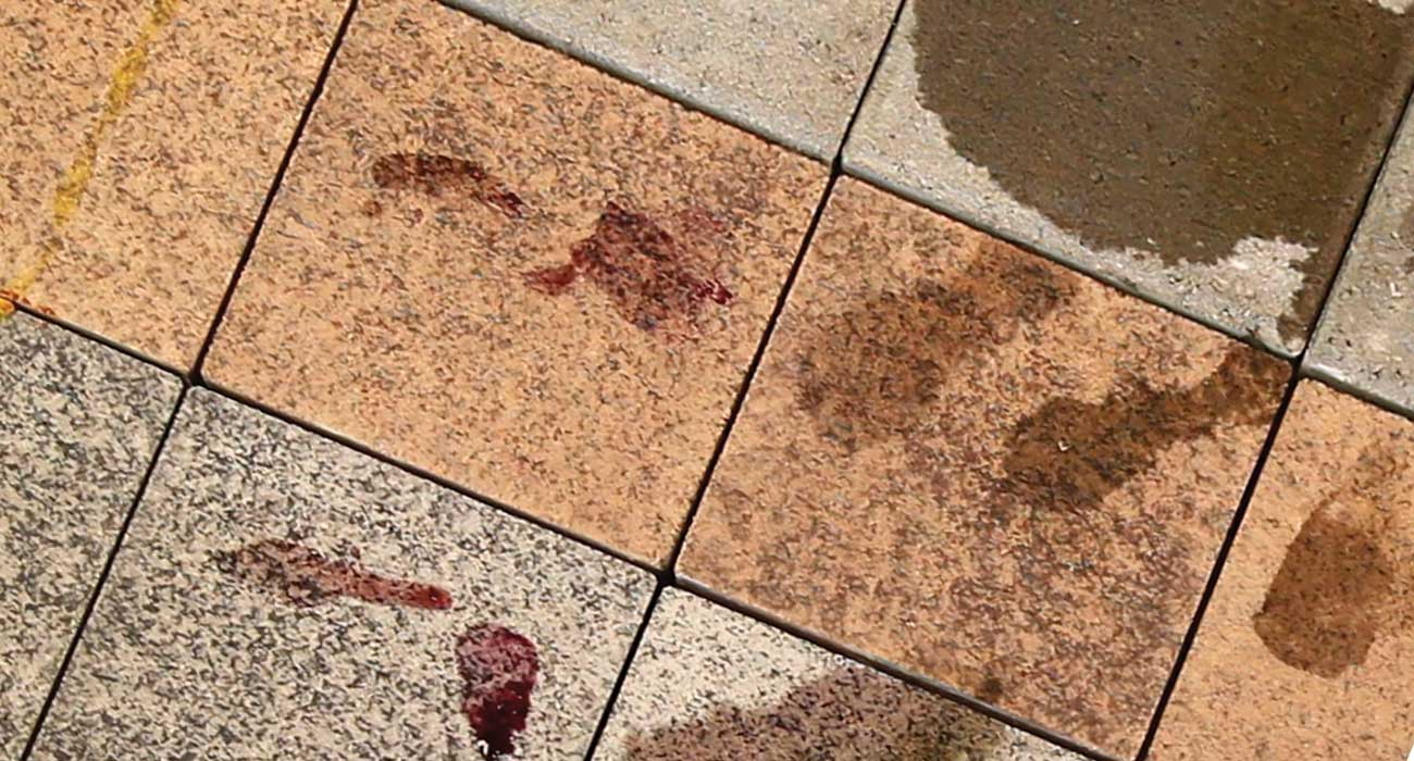 removing stains from pavers unilock