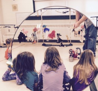 Marionette demonstration at Digby Elementary