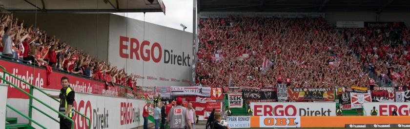 Union fans in Fürth