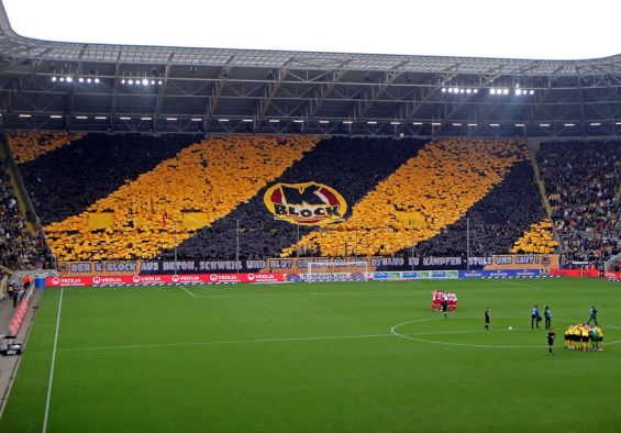 Dresden's home matches vs. Union were usually sold out