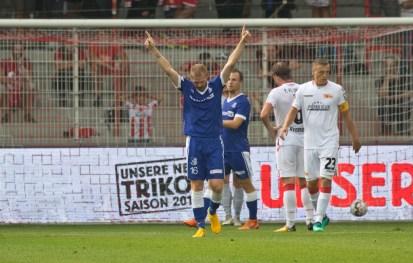 Christian Preiss celebrates his goal