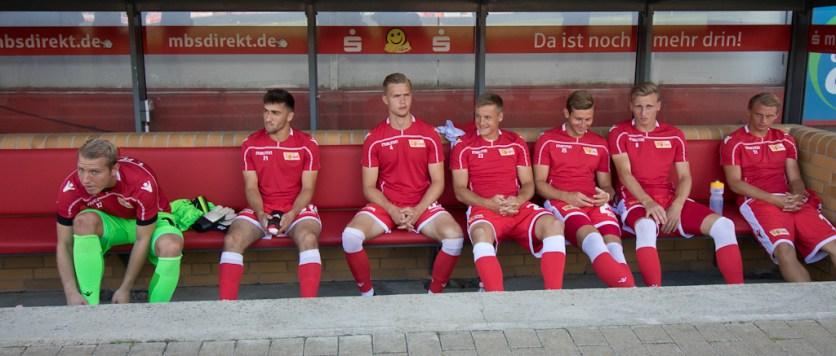 Bench pre-match.