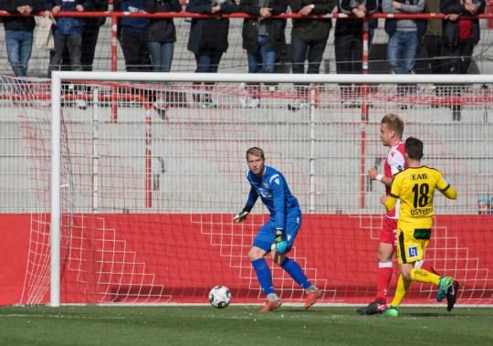 Jakob Busk in the goal