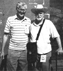Wittman (L) observing elections in El Salvador with Ernest Jenkins.