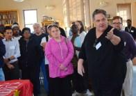 St. Paul Regional Labor Federation President Bobby Kasper welcomes people to the job fair.