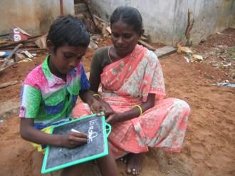 Tamil Nadu children teaching parents