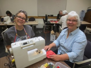 Sewing and sewing machine repair was in full swing, including several luggage and zipper repairs.