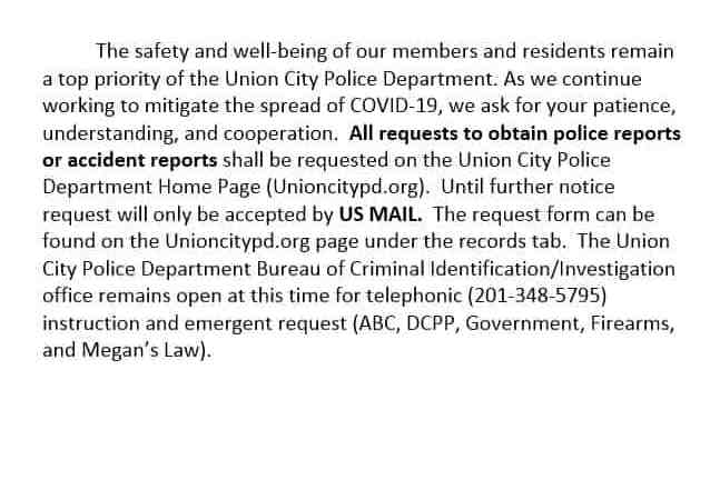UCPD Procedure to request Police Reports or Accident Reports