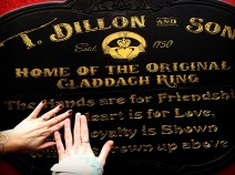 Galway is the home of Claddagh Rings. Mum and I were happy to show ours their birthplace.