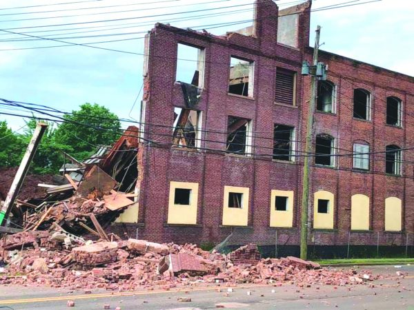 Decrepit Garwood factory collapses onto Route 28