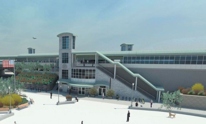 Elizabeth train station reconstruction under way