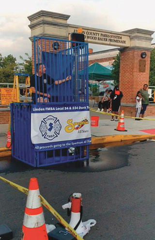 Dunk tank fun typifies Linden annual street fair