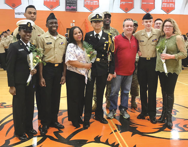 Linden High School NJROTC stands tall during annual military inspection on Feb. 19