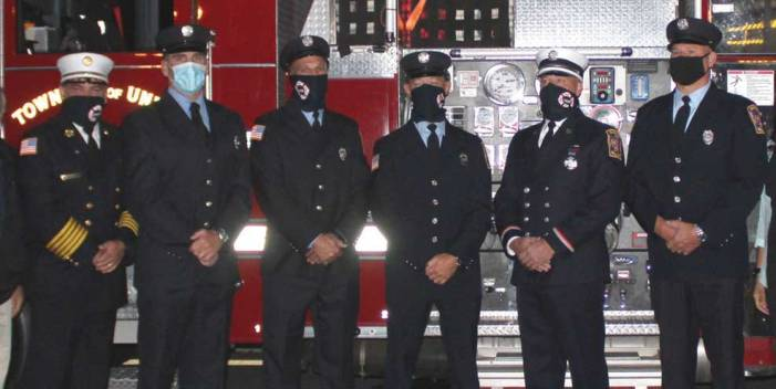 Five Union firefighters, UHS grads, promoted to lieutenant