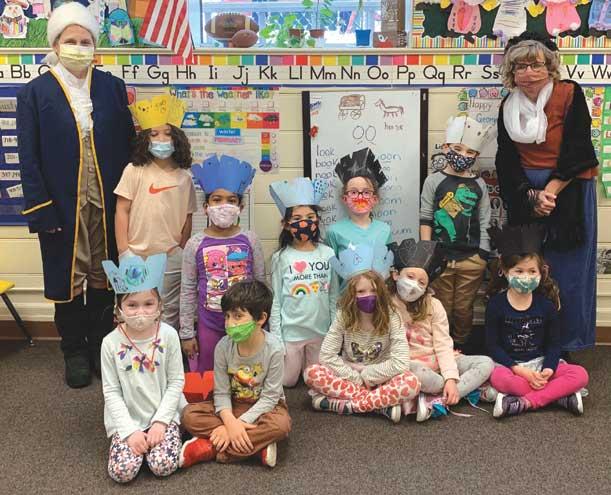 George and Martha Washington visit Westfield classroom