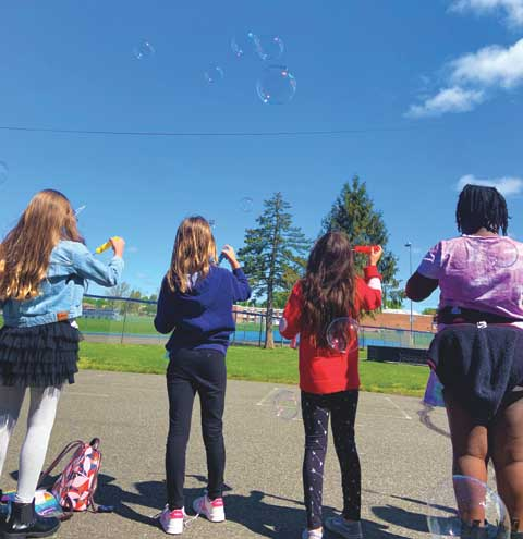Joy in the air as Harding Elementary celebrates Bubbles Day for autism awareness