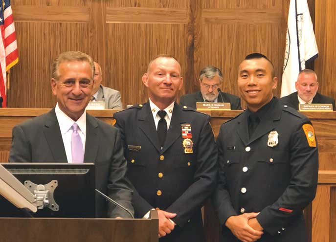 Mayor swears in new officers to the Clark Police Department