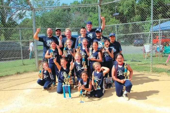 Clark Girls Softball 8U Blue Crushers crush their opponents