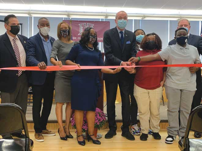Gov. Murphy welcomed to school's ribbon-cutting ceremony in Hillside