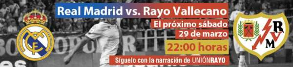 Cabecera Real Madrid - Rayo Vallecano