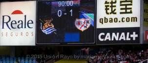 Real Sociedad vs Rayo Vallecano Liga BBVA 2014-2015