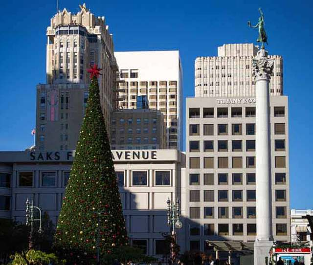 Holiday Scene At Union Square