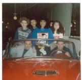 """Submitted by Norma Gerrell - """"Proclamation 1986 Friends for life. Left to right: Norma Scott Gerrell Tommy Rowell Grace Cosmiano Plunk Kennda Ross Front passenger - Drew Gay Driver- Chip Leake"""""""