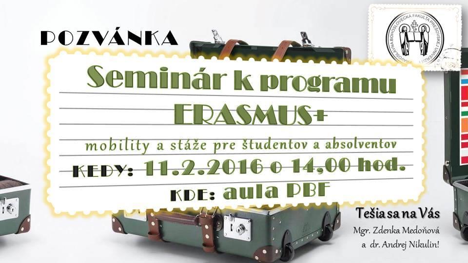 Pozvánka na informatívny seminár (Foto: unipo.sk)