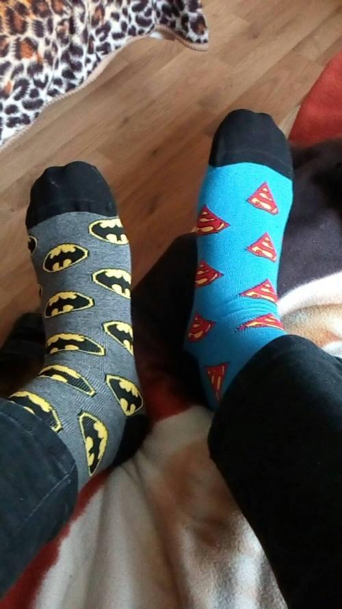 Ponožky Batman vs. Superman (Foto: Iva Tomečková)