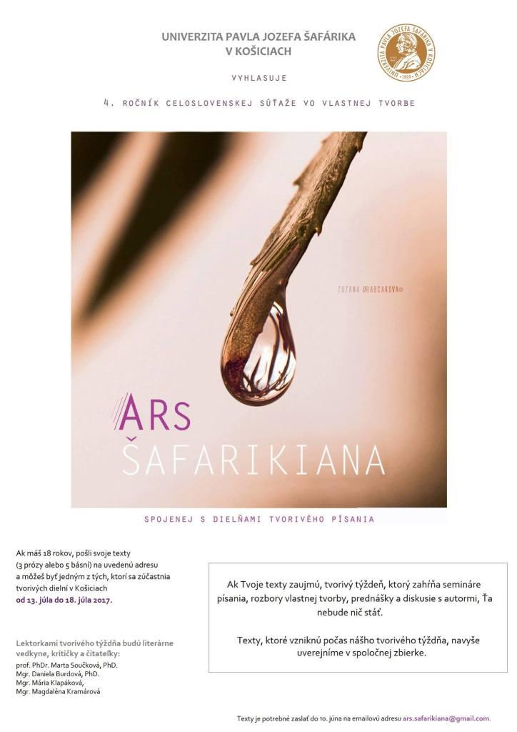 Plagát Ars Šafarikiana (Foto: FB AŠ)