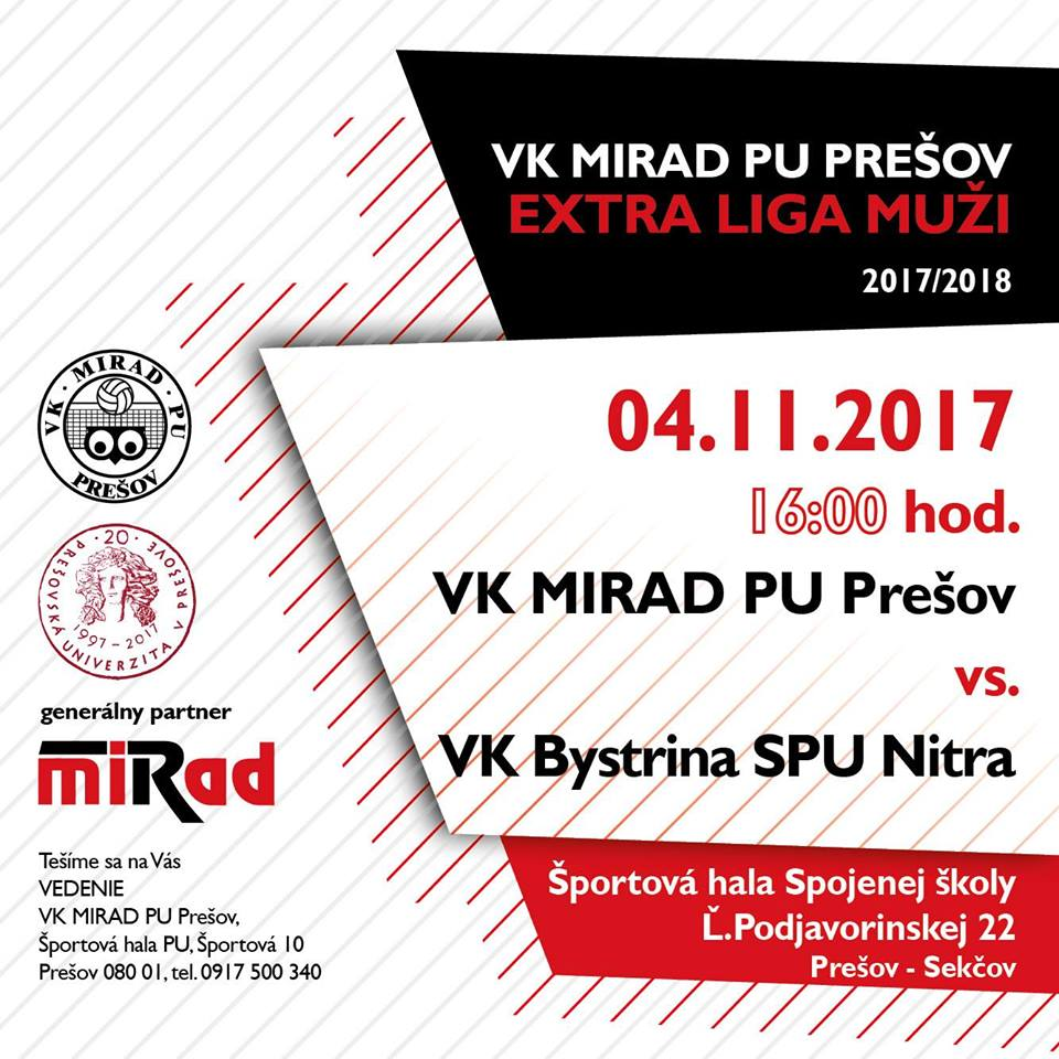 Volejbalisti Prešova pozývajú na derby zápas. (Foto: FB VK Mirad PU)