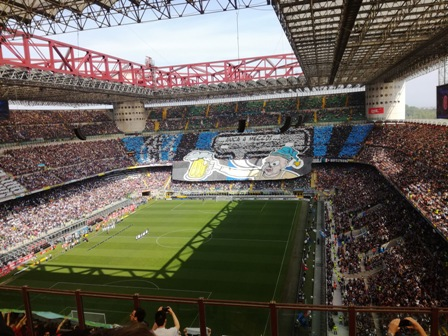 Derby medzi AC Miláno a Inter Miláno (Foto: Henrieta Hlinková)