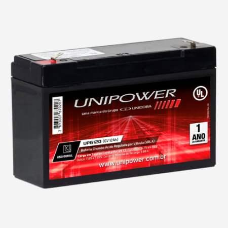 Bateria Estacionária 6V 12Ah VRLA UP6120