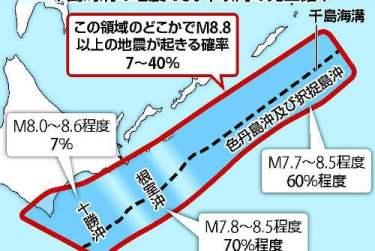 日官方警告:北海道恐將發生 9 級超強烈地震!