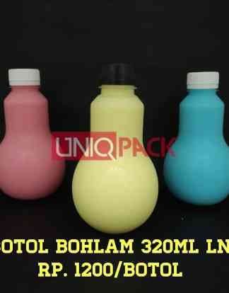 botol plastik bohlam 320ml long neck