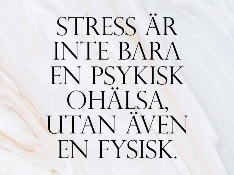 Är stress bara psykisk ohälsa?