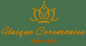 unique ceremonies logo or