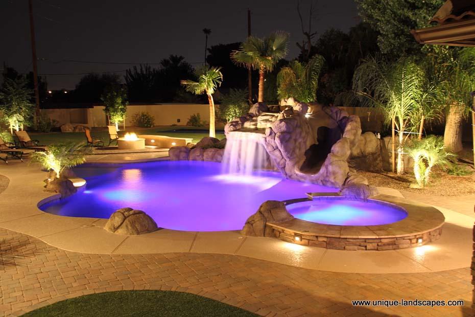 Phoenix Freeform Lagoon Swimming Pool & Spa Design