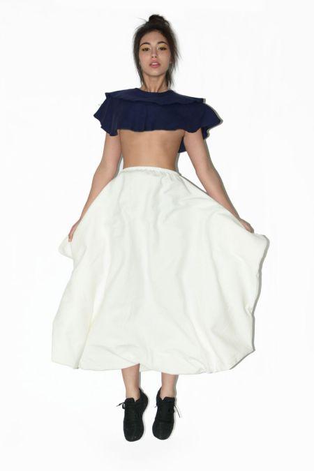 Vestido palabra de honor transformable en falda. Ropa original online.