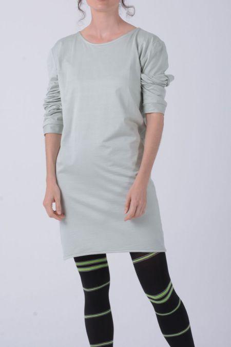 Vestido corto de manga larga