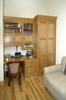 Alder Bedroom Work Center with desk, file base & linen storage