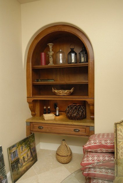 Inset Arched Niche cabinet