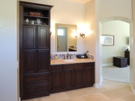 Walnut finished master bath