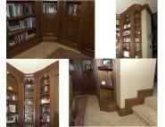 Alder wood multi purpose room. Fluted columns arched top