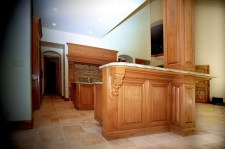 Clear Alder Wood Custom Cabinetry