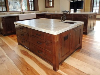 Willamette Walnut Custom Kitchen Island