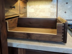 Custom Dovetailed Walnut Drawer